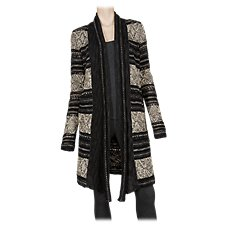 Natural Reflections Jacquard Shawl Collar Sweater for Ladies