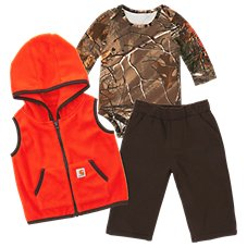 Carhartt Camo Bodysuit, Vest, and Pants Set for Babies