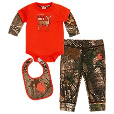 Carhartt Camo Wild One 3-Piece Gift Set for Baby Boys