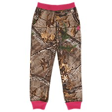 Carhartt Camo Fleece Jogger Pants for Girls