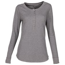 Natural Reflections Waffle Knit Sleep Henley for Ladies