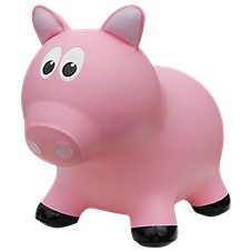 Farm Hoppers Pink Pig Bounce Toy for Toddlers