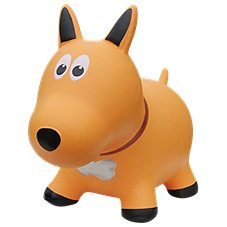 Farm Hoppers Yellow Dog Bounce Toy for Toddlers