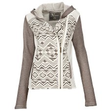 Natural Reflections Southwest Hooded Moto Jacket for Ladies