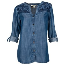 Bob Timberlake Embroidered Denim Shirt for Ladies
