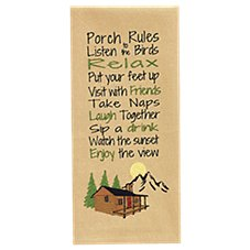 Park Designs Porch Rules Decorative Dish Towel