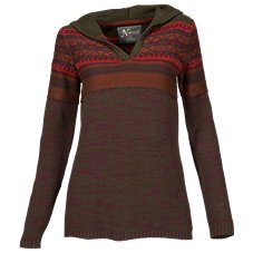 Natural Reflections Reverse Jacquard Hoodie for Ladies
