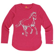 Carhartt Force Run Free Horse Long-Sleeve Shirt for Girls