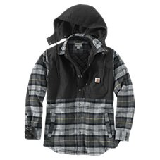 Carhartt Pawnee Hooded Plaid Shirt Jac for Men