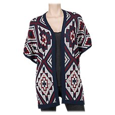 Natural Reflections Fireburst Knit Dolman-Sleeve Cardigan for Ladies