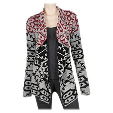 Natural Reflections Arrowhead Open-Front Cardigan for Ladies