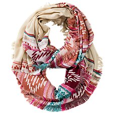 Quagga Fired Up Fiesta Infinity Scarf for Ladies