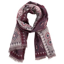 Quagga Indigo Stone Scarf for Ladies