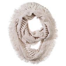 Quagga Fanfare Fringe Infinity Scarf for Ladies