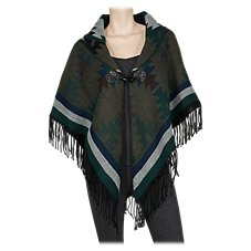 Quagga Forest Toggle Front Poncho for Ladies