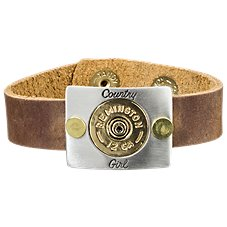 Lizzy J's Country Girl Shotgun Shell Leather Cuff