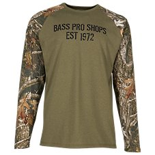 Bass Pro Shops Camo Raglan Long-Sleeve Shirt for Men