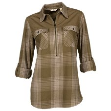Ascend Flannel 1/2-Zip Pullover for Ladies