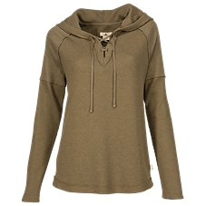 Ascend Hooded Waffle Pullover for Ladies