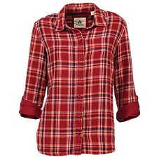 Ascend Double Cloth Plaid Shirt for Ladies