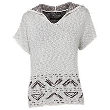 Natural Reflections Aztec Hooded Pullover for Ladies