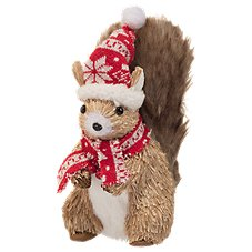 Bass Pro Shops Squirrel with Fabric Hat and Scarf Tabletop Decor