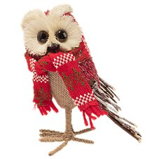 Bass Pro Shops Grass & Straw Owl with Knitted Scarf
