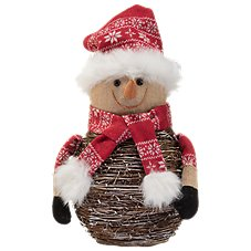 Bass Pro Shops Birch Snowman with Scarf and Hat