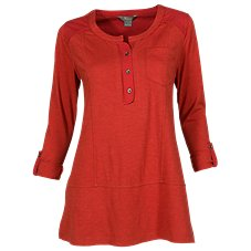 Natural Reflections Slub Jersey Henley for Ladies
