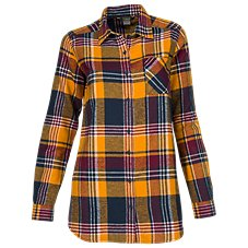 Natural Reflections Herringbone Plaid Shirt for Ladies