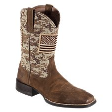 Ariat Sport Patriot Wide Square Toe Western Boots for Men