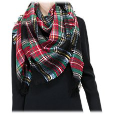 Quagga Square Plaid Scarf for Ladies