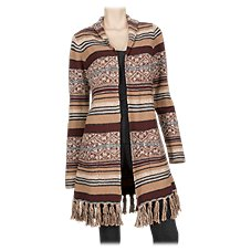Bob Timberlake Jacquard Open-Front Cardigan for Ladies