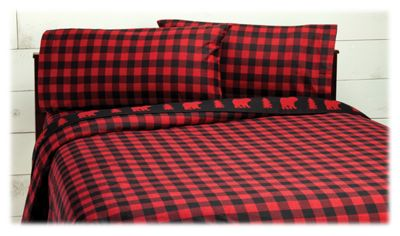 White River Black Bear Flannel Sheet Set | Bass Pro Shops