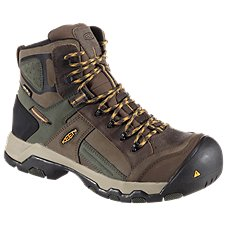 Keen Utility Davenport Mid Waterproof Safety Toe Work Boots for Men