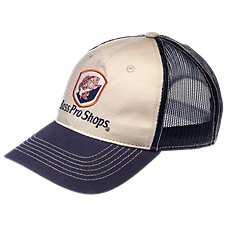 Bass Pro Shops Bass Shield Navy Mesh Back Cap