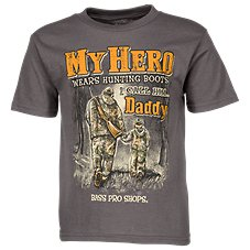Bass Pro Shops My Hero Wears Hunting Boots T-Shirt for Toddlers