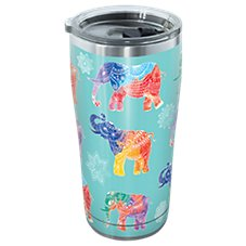 Tervis Tumbler Mehndi Elephants Stainless Tumbler with Clear Lid