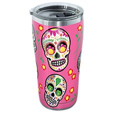 Tervis Tumbler Sugar Skulls Stainless Tumbler with Clear Lid