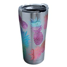 Tervis Tumbler Watercolor Pineapples Stainless Tumbler with Clear Lid