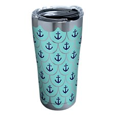 Tervis Tumbler Anchors & Scallop Stainless Tumbler with Clear Lid