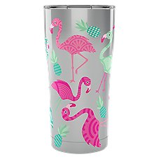 Tervis Tumbler Flamingos Stainless Tumbler with Clear Lid