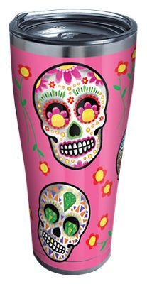 Tervis Tumbler Sugar Skulls Stainless Tumbler With Clear Lid - Sugar skull yeti cup