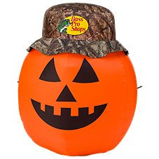 Bass Pro Shops 4' Inflatable Camo Hat Pumpkin