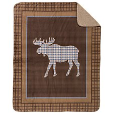 Bass Pro Shops Moose Plaid Throw