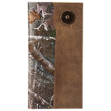 Bass Pro Shops Crazy Horse Leather Checkbook Cover