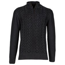 RedHead Sandwashed 1/4-Zip Cable Knit Sweater for Men