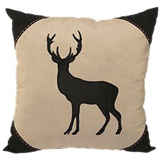 Bass Pro Shops Black Moose Collection Throw Pillow