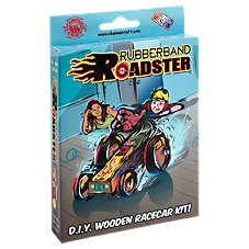 Channel Craft Rubberband Roadster Wooden Racecar Kit
