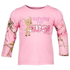 Bass Pro Shops Hunting for Hugs Layered Shirt for Baby Girls